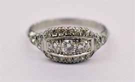 Estate Fine Diamond Ring
