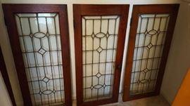 Leaded glass - $75 each