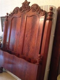 Gorgeous antique full bed with headboard & footboard
