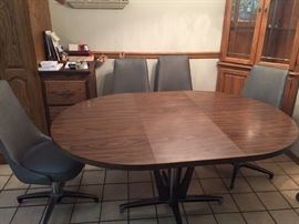 4 - 68 Chromcraft chairs and table (chairs have been reupholstered)