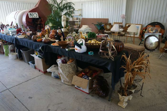 Seasonal items (the farm equipment is not for sale)