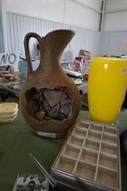 Decorative pot artist signed