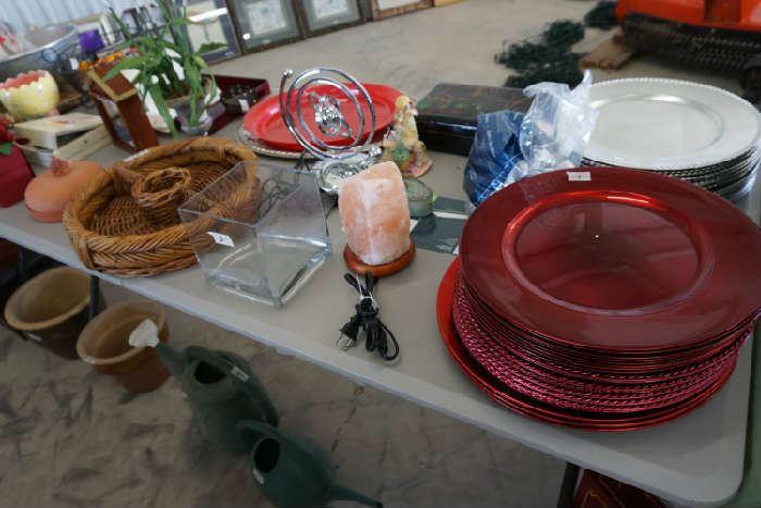 Salt lamp, chargers, more decorative items