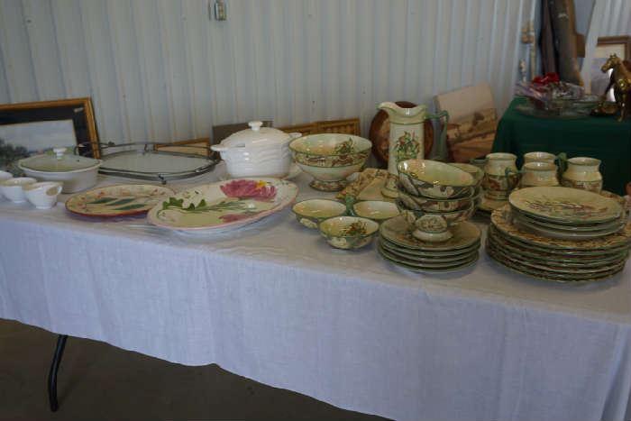 Casseroles, hand painted plate, Paula Deene  platter, more dinnerware