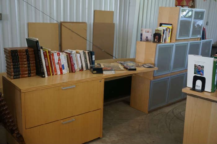 Same cabinetry, books