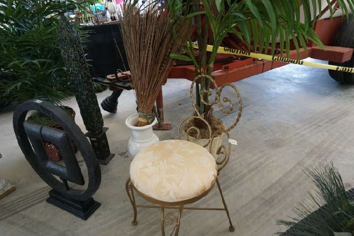 Vanity chair and decorative items