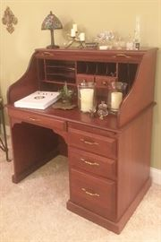 Small cherry rolltop desk from Whitacre's