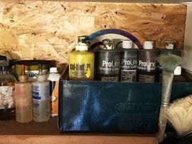 House Paint, tints, Clean up etc.