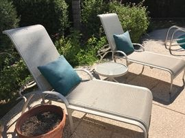 2 Chaise lounges with small table.  Margarita anyone?