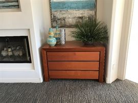 Copenhagen 3 drawer chest for sale.  Again accessories and artwork pictures here are NOT for sale.