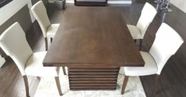 NLP006 Contemporary Wood Dining Table & Four Chairs