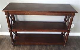 NLP008 Pier 1 Indonesia Wood Three-Shelf Dresser