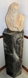 "1967 Michelangelo's ""Moses"" Sculpture Artist Signed"