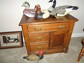 vintage wash stand, duck collection