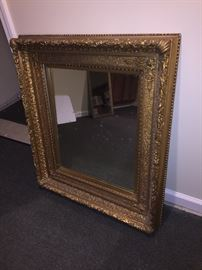 BEAUTIFUL GOLD LARGE MIRROR ANTIQUE