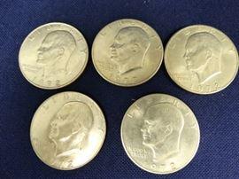5 1972 Ike Dollars