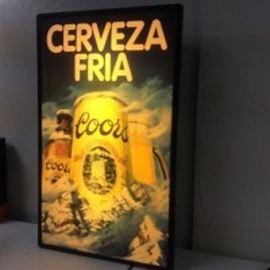CoorsCervezaFriaSign