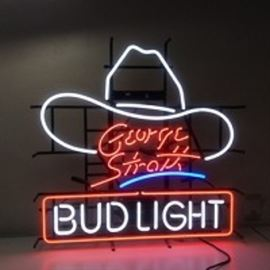 GeorgeStraitNeonBudLightSign