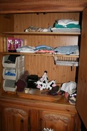 inside of armoire - tv slide out shelf