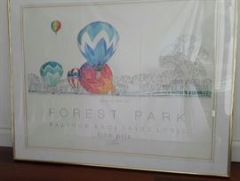 Signed watercolor by John Pils