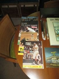 DETROIT TIGER PROGRAMS AND YEARBOOKS FROM THE 1960'S