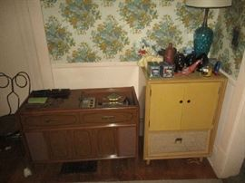 STEREO CABINETS WITH RECORD PLAYERS
