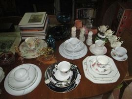 CHINA AND CUPS AND SAUCERS
