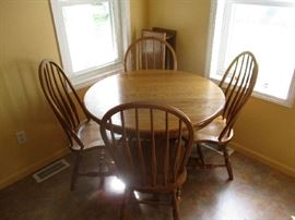 OAK DINEETE SET WITH CHAIRS