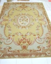 NEEDLEPOINT RUG 8 FT 8 IN L X 5 FT 6IN W