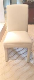 WHITE DINING ROOM CHAIR FRONT VIEW