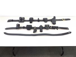 2 Loaded Leather Bianchi and Safariland Police Officer Duty Belts