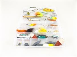 Lot of Large Game Fishing Lures, Bobbers, Sinkers, etc.