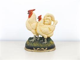 Vintage Cast Iron Chicken/Rooster Doorstop