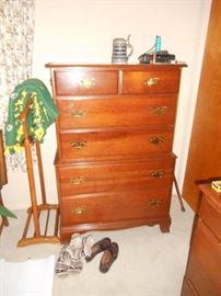 quality chest of drawers Heywood Wakefield, and valet clothes hanger