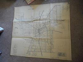 map of Elgin 1950 approx
