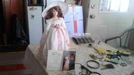 Fine doll signed and dated