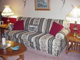 Kroehler three-cushion sofa