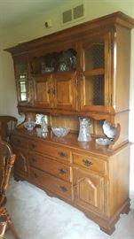 Wood china cabinet -$150