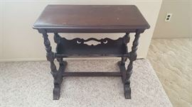 Small wood accent table - $40