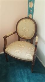 Oval back Victorian chair - $60