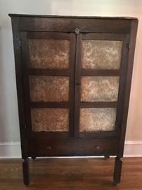 Antique pie safe rescued from the barn after 60 years!