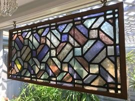 Primitive modern stained glass window.