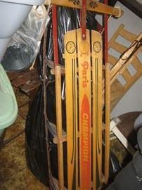 Vintage wood sled
