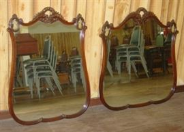 Matching Pair Of Wall Mirrors (Matches Twin Beds)