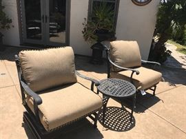 Patio group with new  Sunbrella fabric cushions