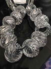 Baccarat set of 12  crystal napkin rings