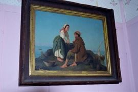 lots of oil paintings from a Victorian to 1960