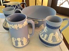 Wedgewood England blue china set