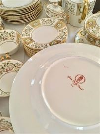 Derby china plates