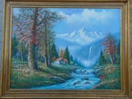 """Oil Painting 36"""" x 48"""" canvass with 4.5"""" frame"""